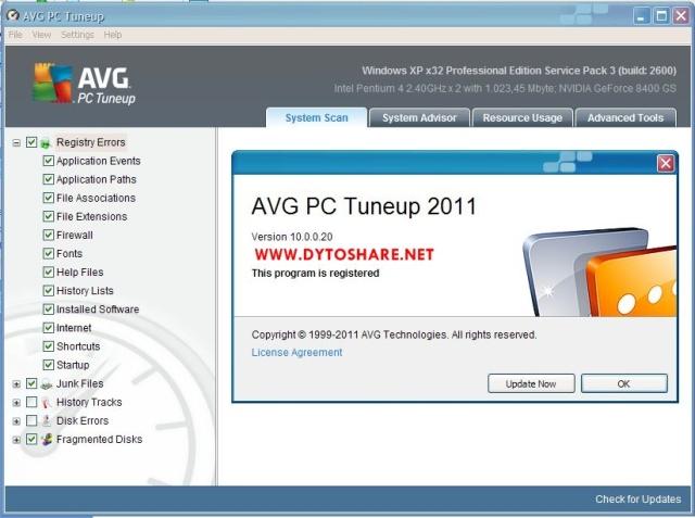 avg pc tuneup 2011 c ключом